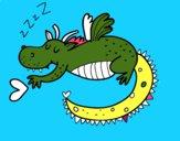 Dragão infantil dormindo