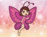 Fada borboleta contente