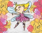 Desenho Fada com alas pintado por Anniely