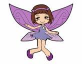 Desenho Fada voadora pintado por Marilene2