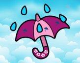Desenho Guarda-chuva aberto pintado por luzinda