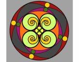 Desenho Mandala 5 pintado por morgado