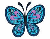 Desenho Mandala borboleta pintado por Marilene2