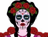 Desenho Mulher caveira mexicana pintado por NataliaMoe