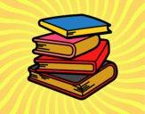 Desenho Pilha de livros pintado por Danielli22