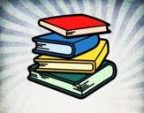 Desenho Pilha de livros pintado por Missim