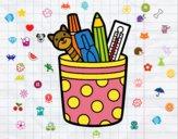 Desenho Porta lápis pintado por Fofurinha