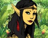 Desenho Princesa elfo pintado por Missim