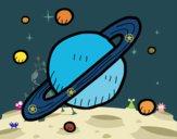 Desenho Satélites de Saturno pintado por Lumma
