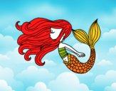 Desenho Sereia flutuante pintado por Danielli22