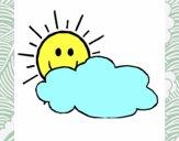 Sol e nuvem