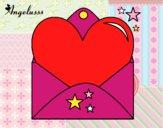 Desenho Carta com coração pintado por Fofurinha