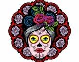 Desenho Caveira mexicana feminina pintado por GiRomani