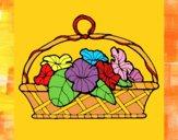Desenho Cesta de flores 5 pintado por cirleiech