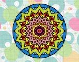Desenho Crescente mandala pintado por GiRomani