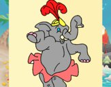 Elefante a dançar