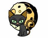 Desenho Gato tenebroso pintado por GiRomani