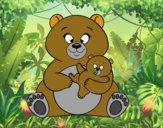 Mãe ursa ursinho