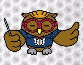 Desenho Maestro coruja pintado por Fofurinha