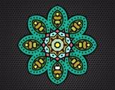 Desenho Mandala árabe pintado por Telmapab