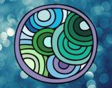 Desenho Mandala circular pintado por Telmapab