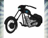 Desenho Moto pintado por luzinda