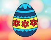 Desenho Ovo de páscoa floral pintado por Missim