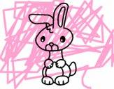 Desenho Art o coelho pintado por vitorcely