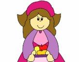 Desenho Menina peregrina pintado por MARGA