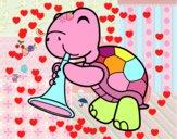 Desenho Tartaruga com trombeta pintado por lhayzlla
