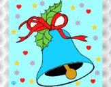 Desenho Sino de natal pintado por AJALVES