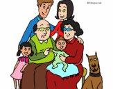 Desenho Família pintado por luzinda