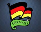 Desenho Bandeira da Alemanha pintado por Cello