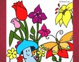 Desenho Fauna e Flora pintado por Cello