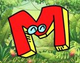Desenho Letra M pintado por marilurdes