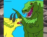 Luta de dinossauros