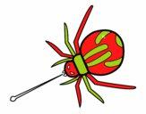Aranha veneno expelido
