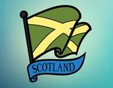 Desenho Bandeira da Escócia pintado por padinho
