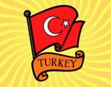 Desenho Bandeira da Turquia pintado por Cello