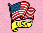 Desenho Bandeira dos Estados Unidos pintado por Cello