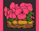 Desenho Cesta de flores 12 pintado por marilurdes