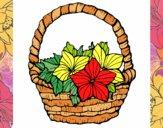 Desenho Cesta de flores 2 pintado por marilurdes