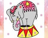 Desenho Elefante a actuar pintado por marilurdes