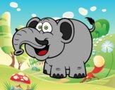 Desenho Elefante-asiático pintado por BelMorim