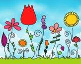 Desenho Flores da floresta pintado por marilurdes