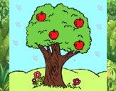 Desenho Macieira  pintado por Dabejon