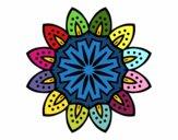 Desenho Mandala com pétalas pintado por paty90