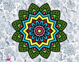 Desenho Mandala flor natural pintado por Annefelipe