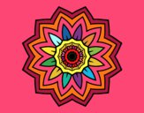 Desenho Mandala flores de girassol pintado por paty90