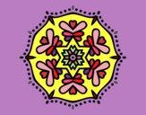 Desenho Mandala simétrica pintado por paty90